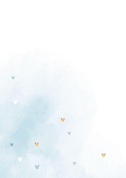 Karte blau Glückwunsch Taufe Schreibschrift 2