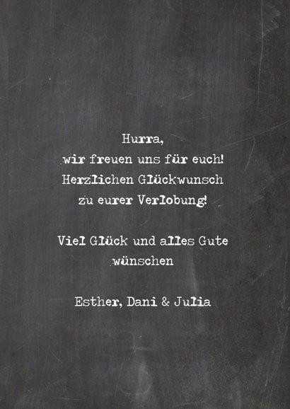Karte Glückwunsch Verlobung 'She said yes' 3