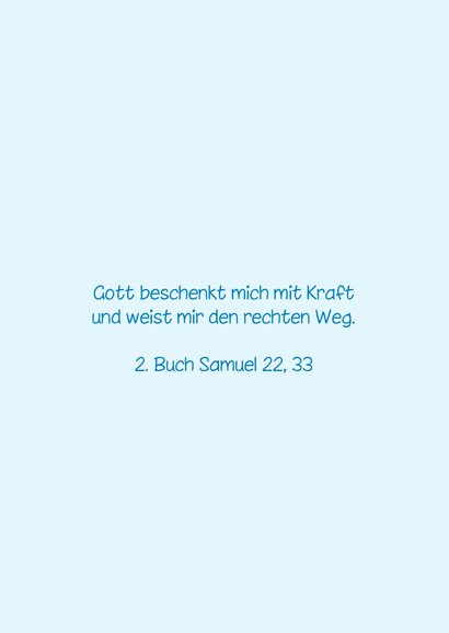 Karte Gratulation Taufe Kreuz klassisch hellblau 2