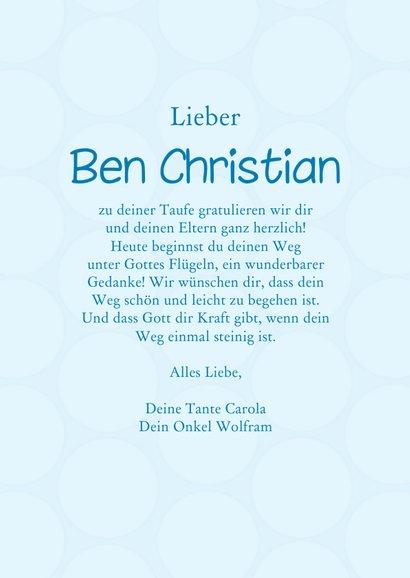 Karte Gratulation Taufe Kreuz klassisch hellblau 3