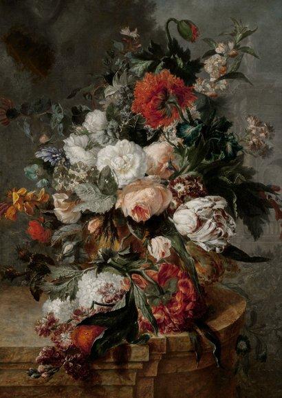 Karte Gute Besserung mit klassischem Blumenstillleben 2