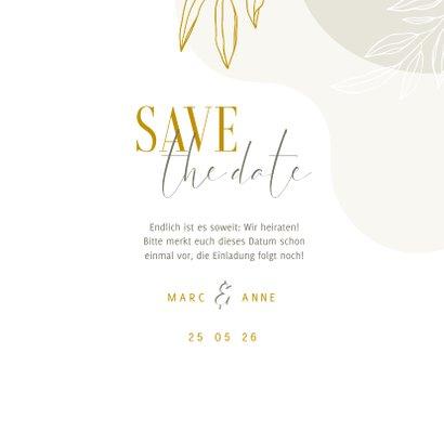Karte Save the Date Hochzeit elegant & abstrakt 3