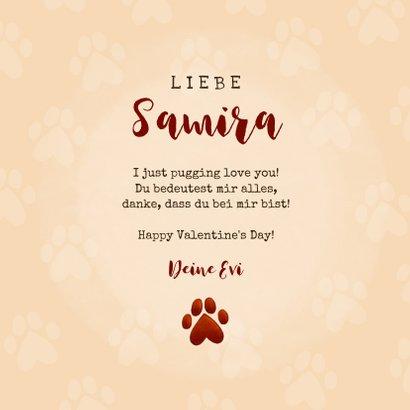 Karte Valentinstag 'I pugging love you' 3