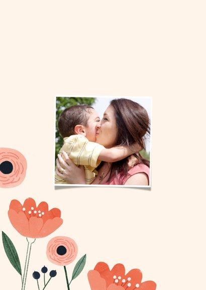 Karte zum Muttertag Blume & Foto innen 2