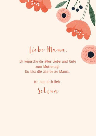 Karte zum Muttertag Blume & Foto innen 3