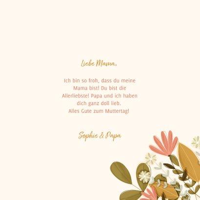 Karte zum Muttertag botanisch mit Foto innen 3