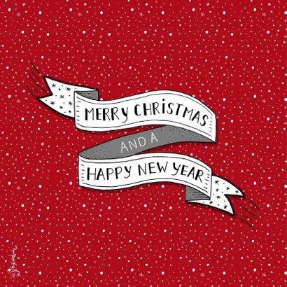 Kerst banner rode strepen 2