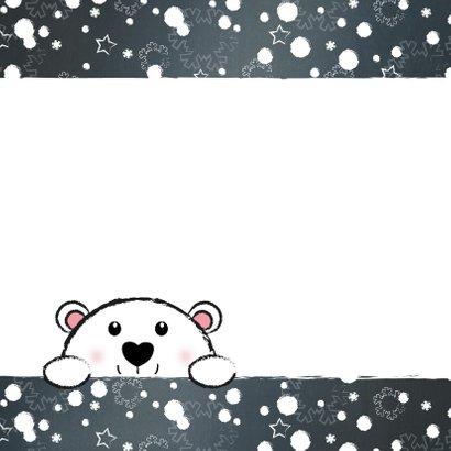 Kerst beregezellige feestdagen lief ijsbeertje in sneeuw 2