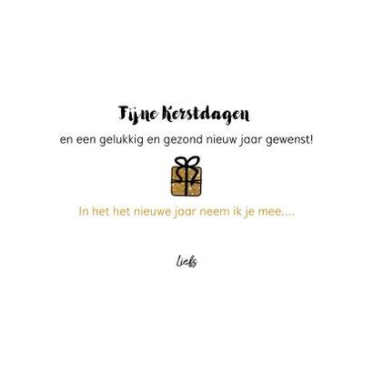 Kerst Cadeau-kaart goudkleurige glitter cadeautjes 3