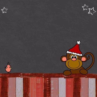 Kerst dieren krijtbord rood V-HB 3