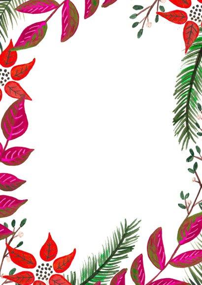 Kerst diner botanisch kerst takjes Achterkant