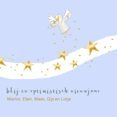 Kerst - drie kleine engeltjes met sterren 3