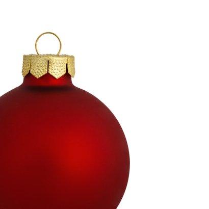 Kerst eigenfoto rode kerstbal 2019 vierkant 2