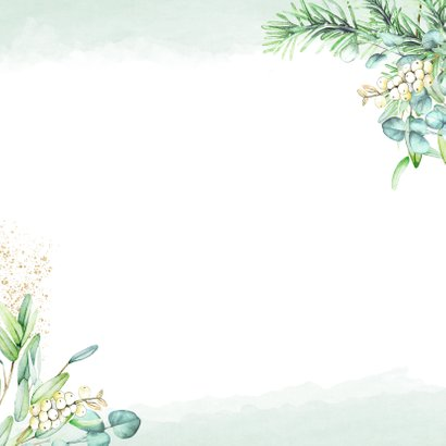 Kerst eucalyptusblad Achterkant