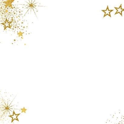 Kerst feestelijke rode foto kerstkaart gouden sterren 2
