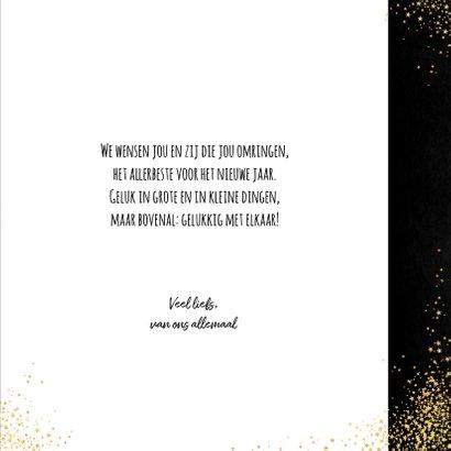 Kerst feestelijke typografische kaart sterren met 2 foto's  3