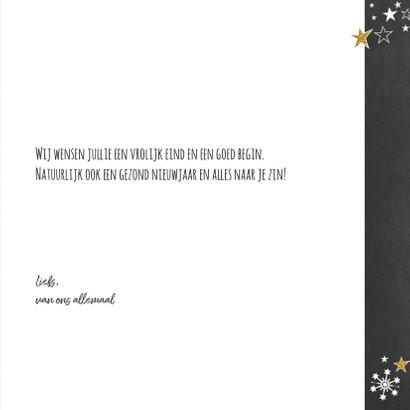 Kerst feestelijke typografische kerstkaart krijtbord-look 3