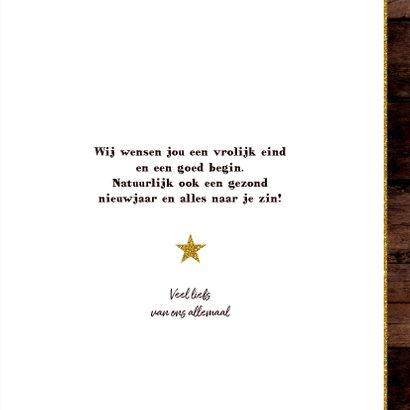 Kerst foto kaart hout met een ster van spijkers en touw 3