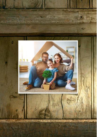 Kerst fotocollage verhuiskaart hout  2