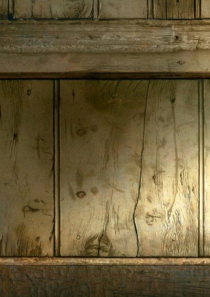 Kerst fotocollage verhuiskaart hout  Achterkant