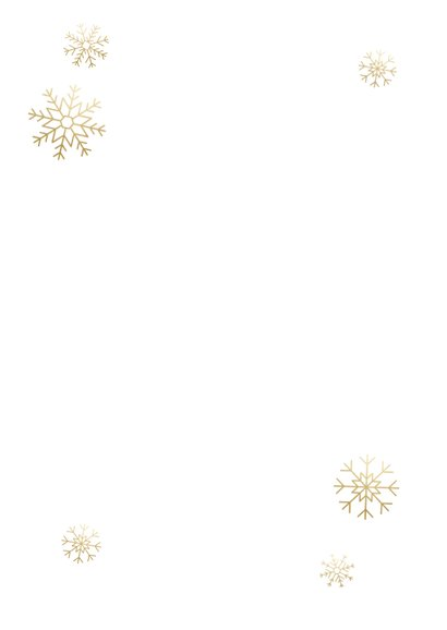 Kerst fotokaart boompjes, sneeuwvlokken en 'Merry Christmas' Achterkant