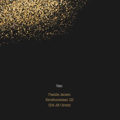 Kerst Fotokaart met goudlook dust en confetti 2