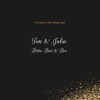 Kerst Fotokaart met goudlook dust en confetti 3