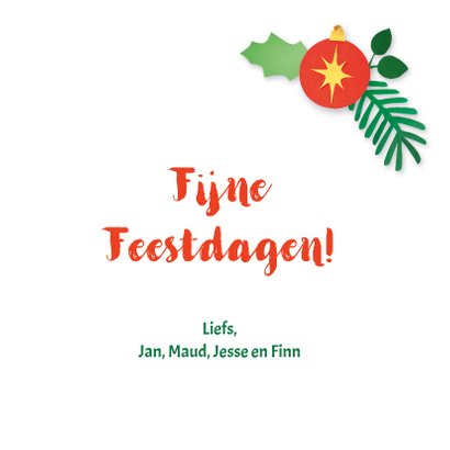 Kerst fotokaart met roodborstje 3