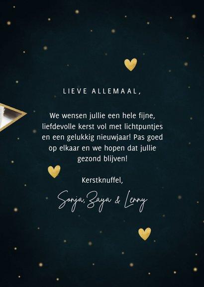 Kerst fotokaart met sterren, hartjes Licht & Liefde 3