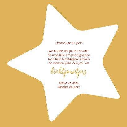 Kerst gouden lichtpuntjes met sterren 3