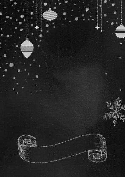 Kerst handgetekend krijtbord  3