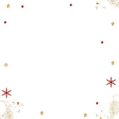 Kerst hert kerstballen Achterkant