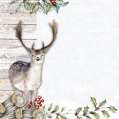 Kerst herten sneeuw 2