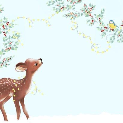 Kerst hertje met groen en rode besjes 2
