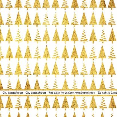 Kerst hippe foto kaart goud Oh, denneboom  2
