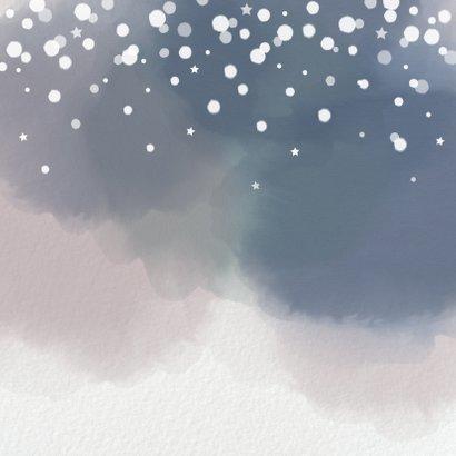 Kerst hippe foto kerstkaart papier waterverf sneeuwvlokken Achterkant