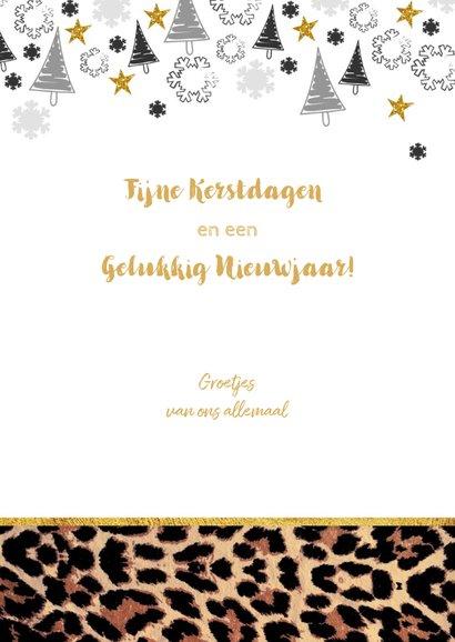 Kerst hippe kaart met panterprint en eigen foto 3