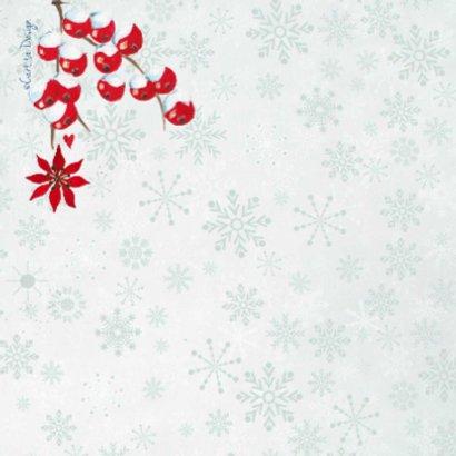 Kerst hout Hart Krans Bloemen 2