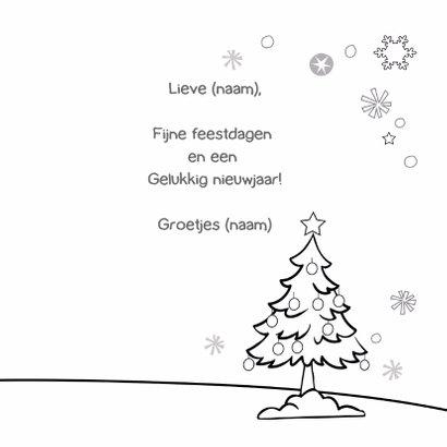Kerst inkleurkaart met Eskimo 3