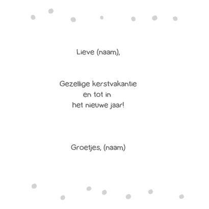 kerst inkleurkaart met sneeuwpop en jongetje 3