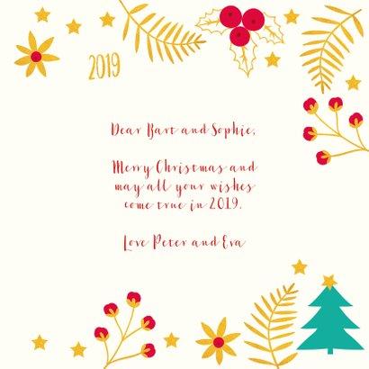 Kerst-items met veel goudlook en jaartal 2019 3