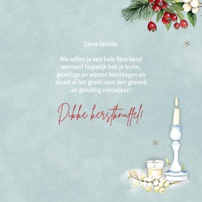 Kerst kaarsen kersttakjes 3