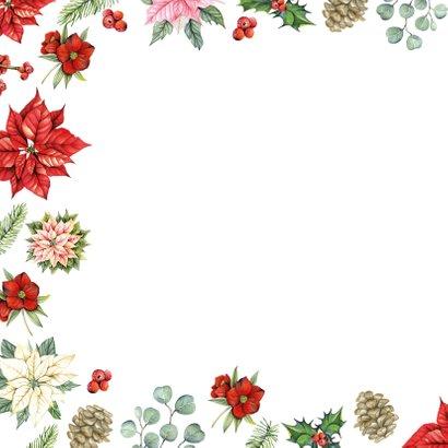 Kerst kerstbloemen met takjes 2