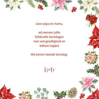 Kerst kerstbloemen met takjes 3