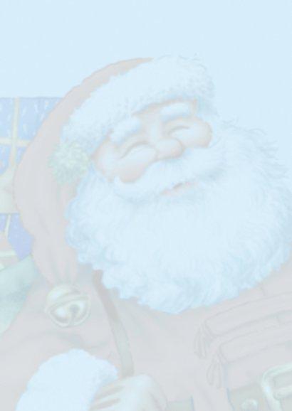 kerst kerstman 1 kerstman met zak op rug 2