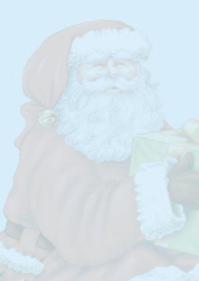 kerst kerstman 2 kerstman met cadeau 2