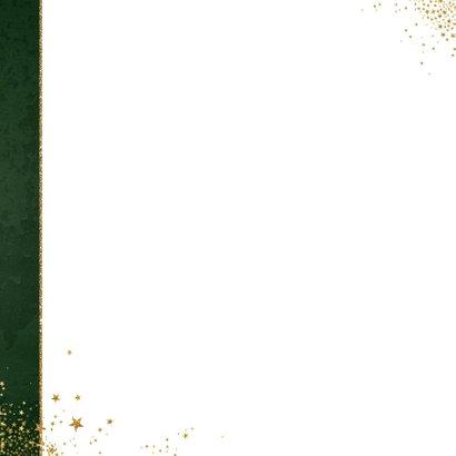 Kerst klassieke donker groene kaart met 3 kerstbomen 2
