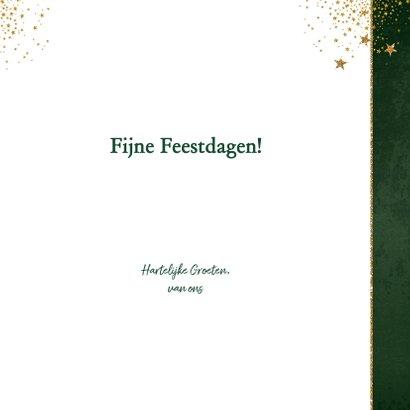 Kerst klassieke donker groene kaart met 3 kerstbomen 3