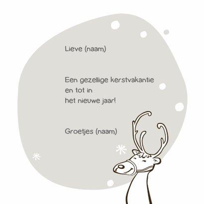 Kerst kleurplaat kaart eland-IR 3