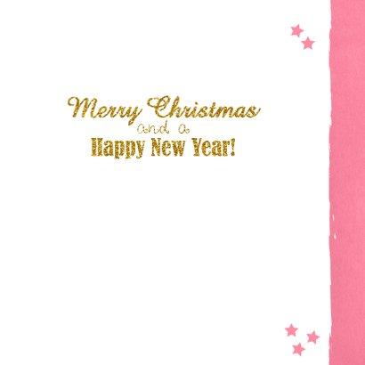 Kerst lief girafje roze goud 3